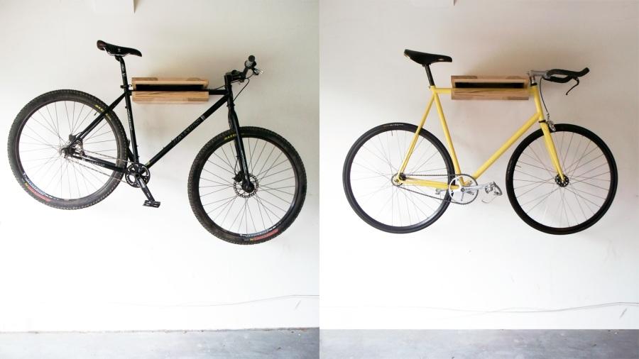 Bike Shelf - Ash Wide duo